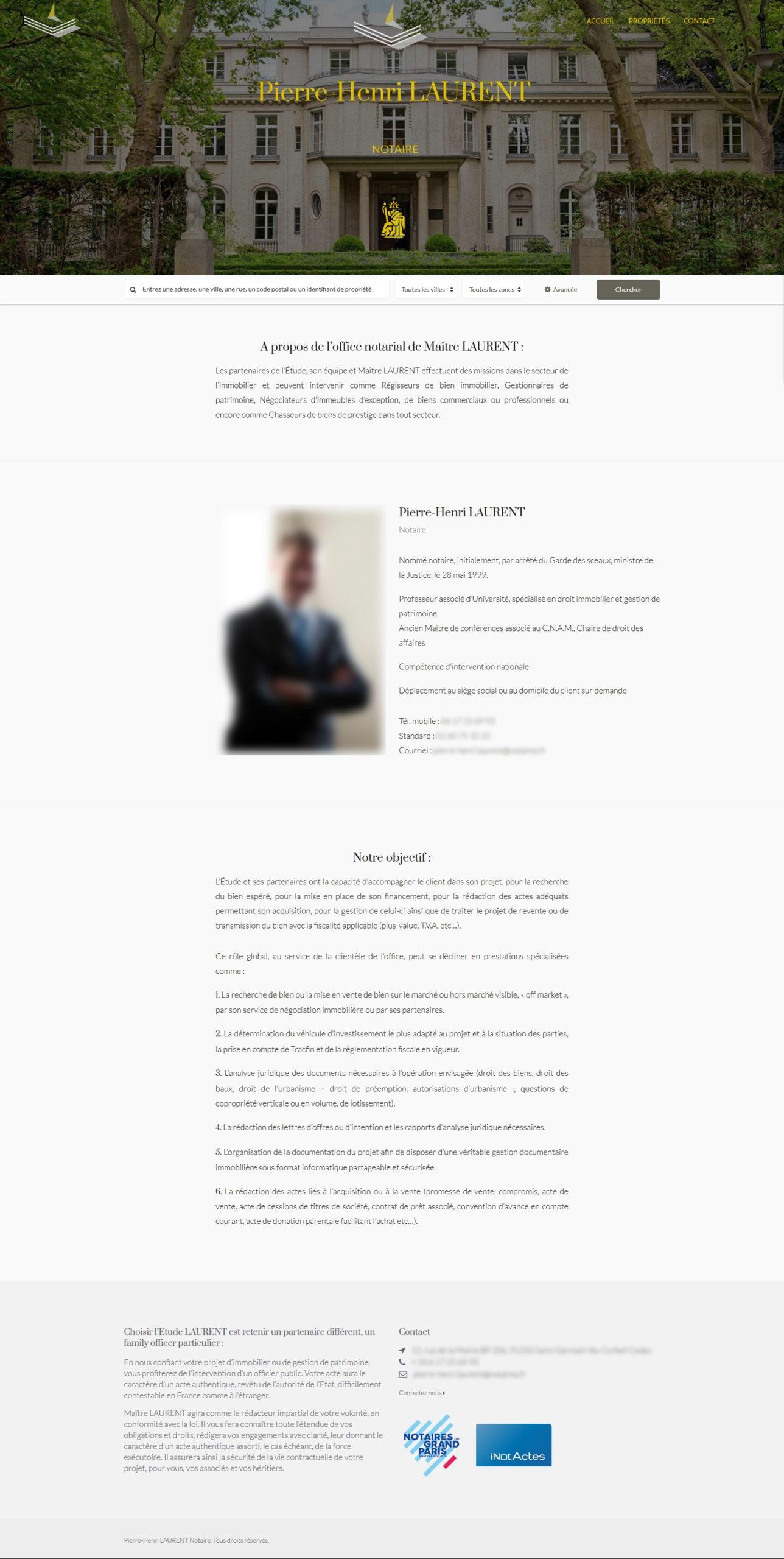 Création site internet design Immobilier