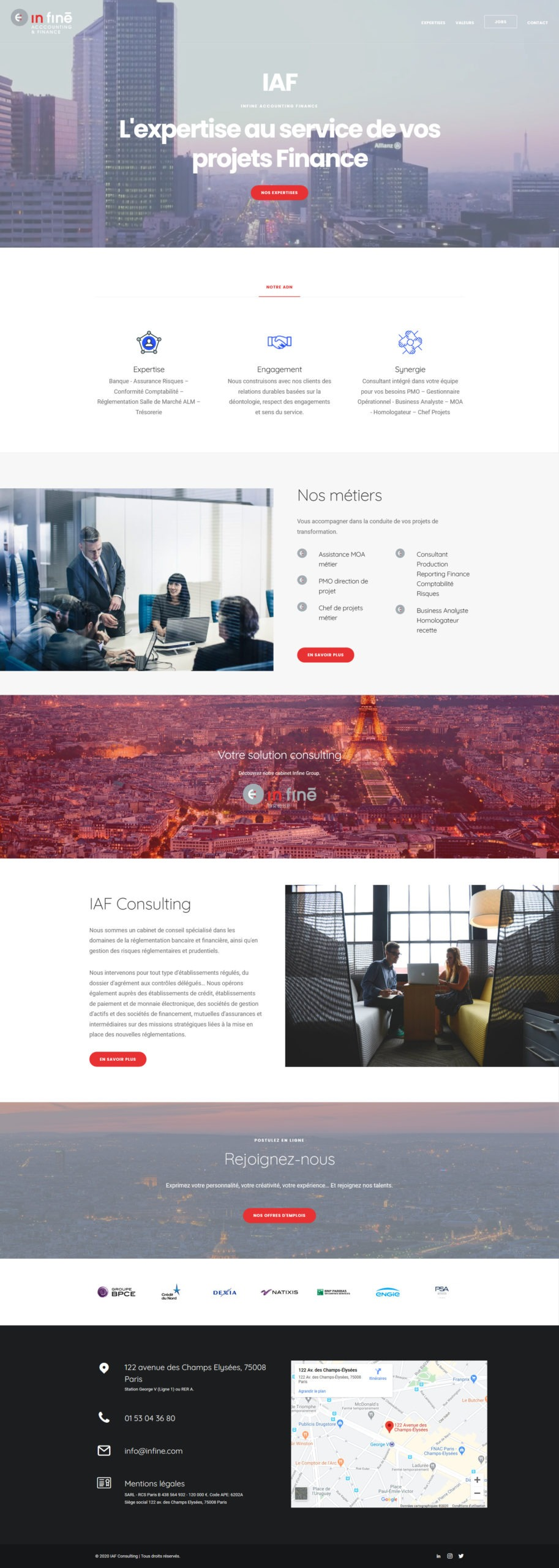 Création site internet design Cabinet Finance Consulting