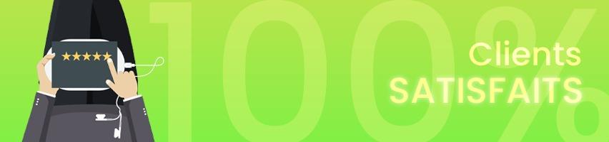Création site internet clients 100% satisfaits