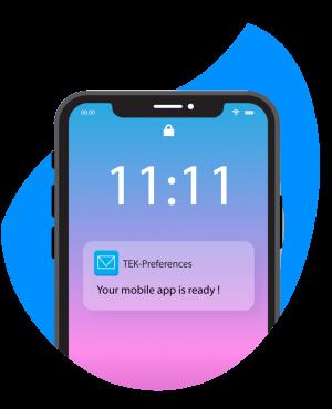 Notification livraison application mobile TEK-Preferences